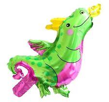 "10 x dragon foil balloons hand held air-fill stick 17"" or 42cm dinosaur fire"