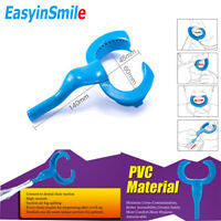 Easyinsmile Dental Cheek Retractors Lip Saliva Aerosol Suction Mouth Opener Blue