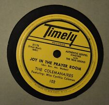 LISTEN MP3 BLACK GOSPEL R&B 78 The Colemanaires Timely 102 Somebody Save Me