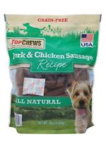 Top Chews Pork & Chicken Sausage Dog Treats 100% Natural 36 OZ
