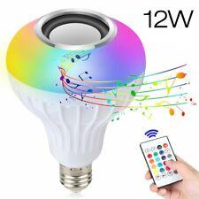 12W E27 Smart Led Light Bulb Rgb Color Music Speaker+Ir Remote Control Us