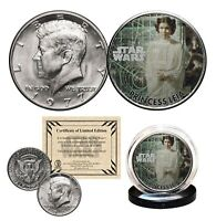PRINCESS LEIA - STAR WARS Officially Licensed 1977 JFK Half Dollar U.S. Coin