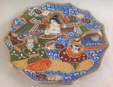 "Oriental Plate, Satsuma/Dragonware, Immortals, Nappy 6"" 1930's Japanese Handmade"