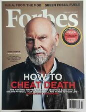 Forbes Feb 28 2017 Craig Venter Gene Genius How To Cheat Death FREE SHIPPING sb