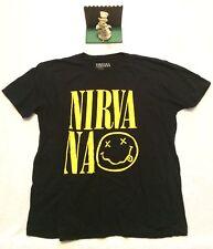 Vintage Nirvana Graphic T Shirt R Mens XXL 2XL Black New.. Display