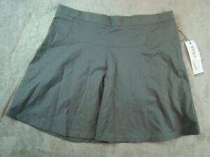 NWT LIJA Womens Charcoal Olive Green Golf Tennis Skort Skirt Size 12
