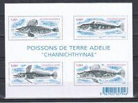Fish Marine Life French Antarctica Block From 2015 (MNH)