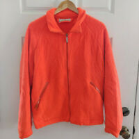 LL Bean Vintage Maine Guide Orange Fleece Jacket Mens Small Made in USA Hunting