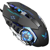 ZERODATE G11 Wired 6 Buttons 3200DPI RGB Backlight Gaming Optical USB Mouse UK