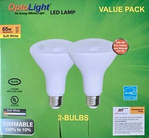 2 pack BR30 LED Bulb DIMMABLE 11W Warm White, 810 Lumens, Flood Lamp, Optolight