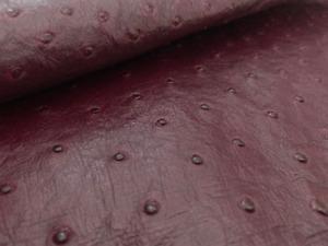 Ostrich Leather Hide, Blackberry Juice Color (%100 Genuine Natural skin)