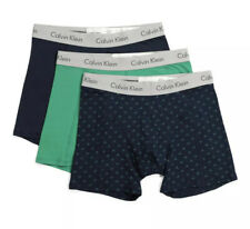 Calvin Klein Men's 3pk Cotton Stretch Logo Boxer Briefs Green Multi Size Medium