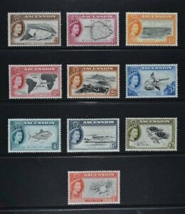 ASCENSION, QEII, 1956, ten stamps from set to 1s. value, MM condition, Cat £31.