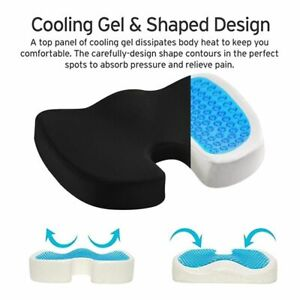 Car U-Shape Seat Cushion Gel Travel Breathable Seat Cushion Coccyx Memory Foam