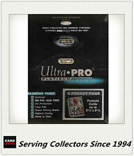 "Ultra Pro Platinum 6 Pocket Pages 2.5""x5.25"" Factory box(100)x10-NRL Longer Card"