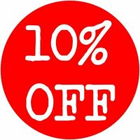 '10% off ' Sale Stickers Retail Sale *Large Quantity* -  *Free Postage*