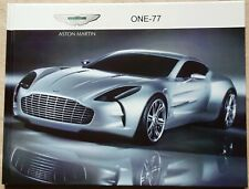 Hardcover book Aston Martin One-77 incl. press releases (not brochure)