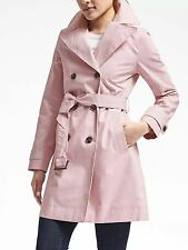 Banana Republic Double-Breasted Belted Trench, Dusty Pink Size XSP XS P #468834