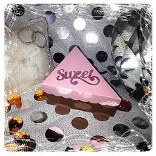 Cake slice shape wedding birthday party baby shower favor boxes containers craft