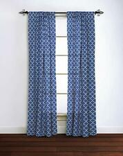 Rizzy Home Moroccan Window Panel, 42 by 95-Inch, Blue/White