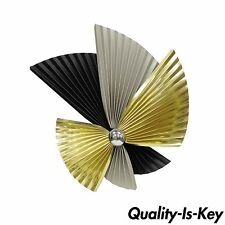 Vintage Curtis Jere Mid Century Modern Tri-Color Fan Metal Wall Sculpture Art