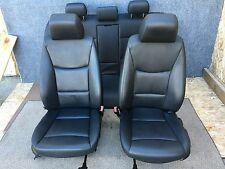 BMW E90 E91 E92 OEM FRONT AND REAR LEATHER SEAT SEATS  MANUAL BLACK