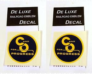DeLuxe By Virnex Decals Yellow Blue Chesapeake and Ohio Herald D-202 -Two Decals