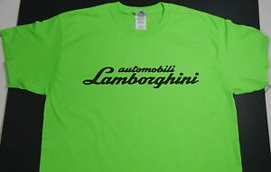Brand New LAMBORGHINI T-SHIRT LOGO BADGE EMBLEM SPYDER LP610-4 HURACAN GREEN SV