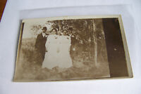 Rare Antique Vintage RPPC Real Photo Postcard Dressed Up Women and Men Hats