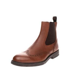 RRP €110 MR. KOBE Leather Chelsea Boots EU 45 UK 11 US 12 Brogue Trim Round Toe
