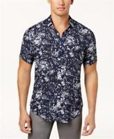 INC Splatter Print Shirt Navy Combo Mens Size Large New