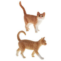 2 Pack Cute Cat Figure Toys Figurines Collectibles Realistic Cat Models