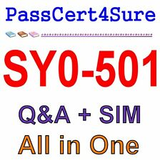 CompTIA Security+ SY0-501 Exam Q&A+SIM
