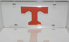 TENNESSEE VOLUNTEERS MIRRORED INLAID ORANGE ACRYLIC AUTO LICENSE PLATE CAR TAG