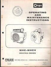 1979 Onan Series Nhc-Nhcv Industrial Engine Operators Manual P/N 940-0151 (318)