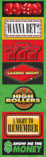 Reminisce CASINO SIGNS Layered CHIPBOARD STICKERS scrapbooking