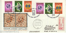 NETHERLANDS ANTILLES REG AIRMAIL FDC 1973  STAMPS