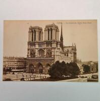 Antique Postcard View of Notre Dame The Cathedral Paris France