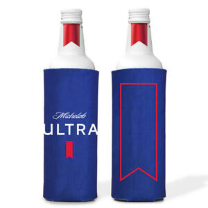 2 AUTHENTIC Michelob Ultra SLIM BOTTLE Can 16oz Beer Koozie Coozie Cruise Water