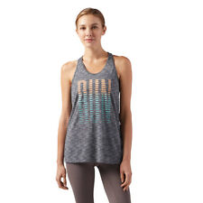 Reebok Women's Running Burnout Trend Tank Dark Grey Heather Size Large