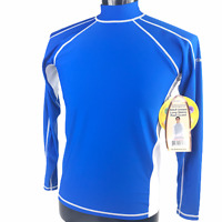 Sun Protection Activskinz Mens Blue Long Sleeve Rash Guard 100 SPF Size L UPF 50