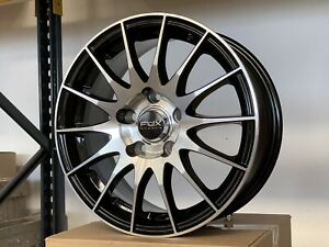 4x Llantas Fox 005 black front polised 6.5x15 5x110 et42