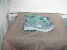 NEW WOMENS SKECKERS SKECH-AIR,AIR COOLED MEMORY FOAM SNEAKERS GRAY/GREEN SZ 6.5
