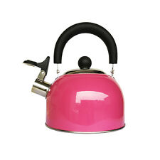 Stainless Steel Whistling Tea Kettle Pot Heat Boiler Stovetop Camping Gas 1.6L