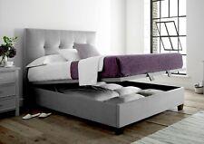 Kaydian Walkworth Velvet Slate Upholstered Storage/Ottoman Bed Frame - King/5ft