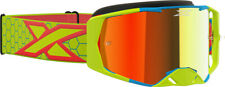 EKS Brand Lucid Goggle FLO/Yel/Red Mirror Lens 067-11005 Fast n FREE Shipping