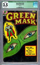GREEN MASK v2 #3 CGC 3.5 CLASSIC GOLDEN AGE GREEN LANTERN TYPE CRUSADER FOX 1945