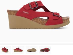 Mephisto Terie Red Nubuck Wedge Comfort Sandal Women's sizes 35-42 NEW!!!