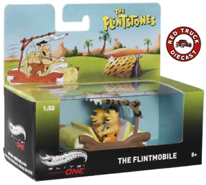Hot Wheels 2013 ELITE ONE 1:50 ~ THE FLINTSTONES - THE FLINTMOBILE with FIGURES