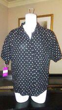 Women's Jones New York Black & Gold Short Sleeve Printed Blouse Size 12